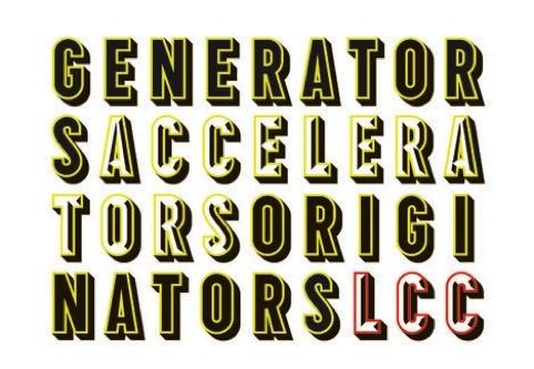 Accelerators branding by Studio Myerscough