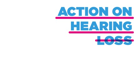 Action on Hearing Loss identity, by Hat-Trick Design