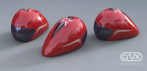 Crux product design creates new helmets for british for Product design consultancy bristol