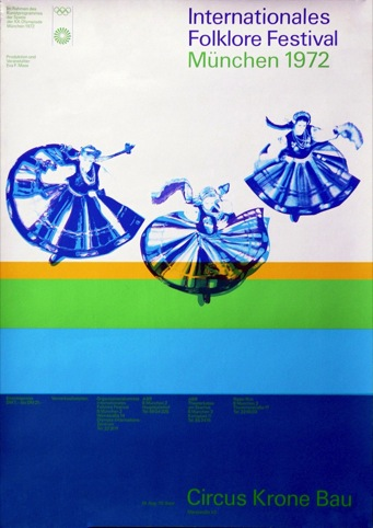 Cultural programme poster for the International Folk Festival