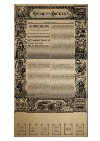 First day cover pack designed by Interabang based on design of serialised Dickens publications