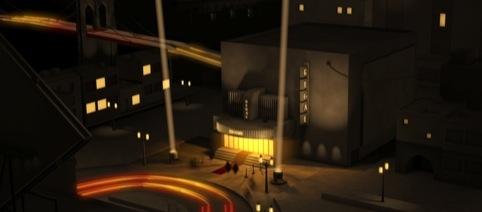 Street scene in the microsite