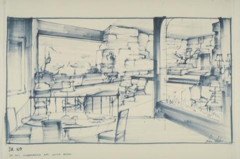 Dr No's underground apartment designed by Ken Adam. 1962 Danjang, LLC  United Artists Corporation