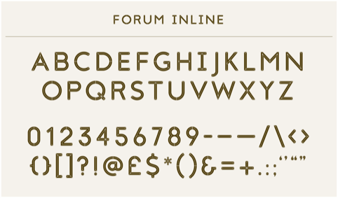 Forum typeface