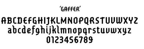 GBH designed Gaffer font