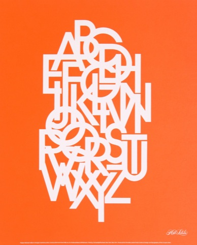The 26 letters of the alphabet set in Avant Garde Gothic