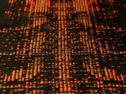 Dubstep, Woven Textiles / Digital Translation of Music by Nadia-Ann Ricketts, Cockpit Arts Deptford