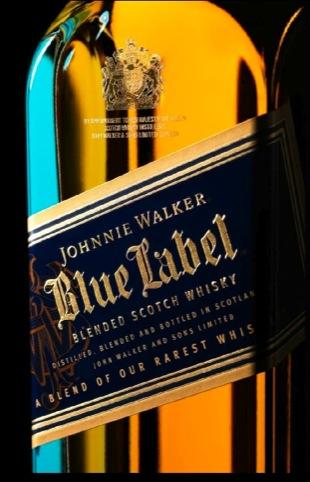 Johnnie Walker Blue Label bottle, by Sedley Place