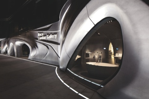 Roca London Gallery, by Zaha Hadid Architects