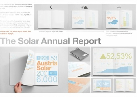The Solar Annual Report 2011 for Austria Solar, by Serviceplan Munich