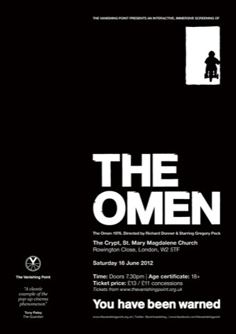The Vanishing Point Omen poster