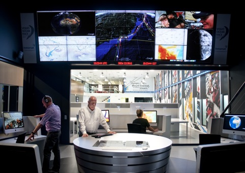 Volvo Ocean Race communications centre designed by Mather & Co