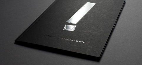Brochure cover with identity