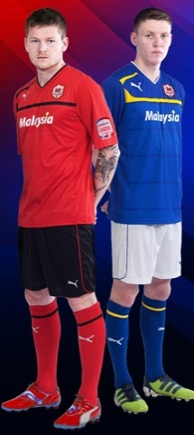 New Cardiff City FC home kit (Red) and new away kit (Blue)