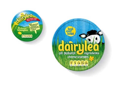 Dairylea before, (left) and after, (right)
