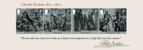 Miniature sheet of four 1st class stamps