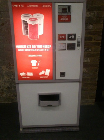 Product design student Sam Rowe's Homeless Vending Machine