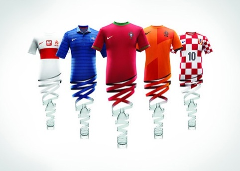 Each Nike kit is made from 13 plastic bottles, the company claims