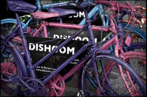 Dishoom bikes from the Covent Garden site