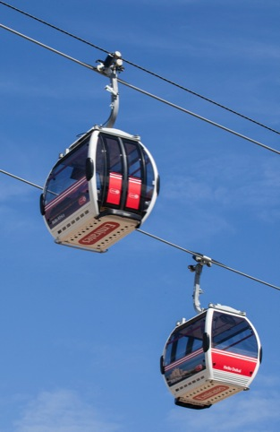 Cable cars in operation