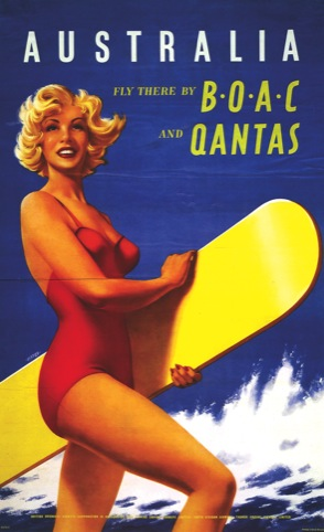 Australia - Fly there by BOAC and Qantas