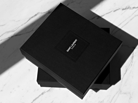 New Saint Laurent Paris logo, which appears in the August issue of Vogue Paris