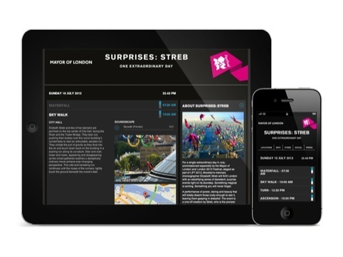 The Surprises Streb website, by Eskimo Creative