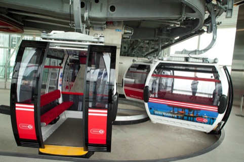 Cable car in the terminal