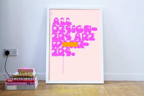 All Designers are Wankers poster