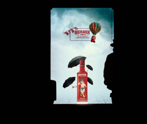 Pelonio's Beefeater Gin installation for Harrods' Harrods Loves London window campaign