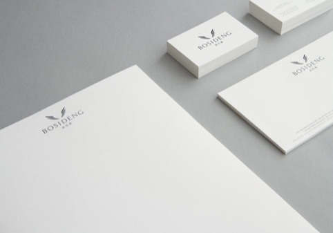 Bosideng logo desinged by Mammal on stationery