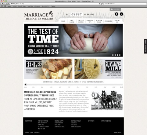 Spring's work for W and H Marriage and Sons Ltd flour millers