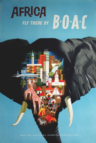 Africa - Fly there by BOAC, unknown designer