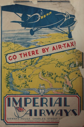 Go There By Taxi, unknown designer, Imperial Airways 1930