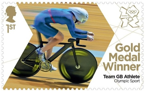 Gold medal stamp