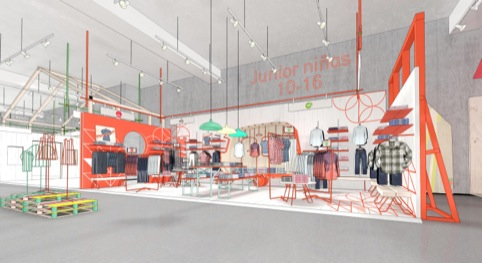 Paris department store in Chile's kids' concept by Dalziel and Pow