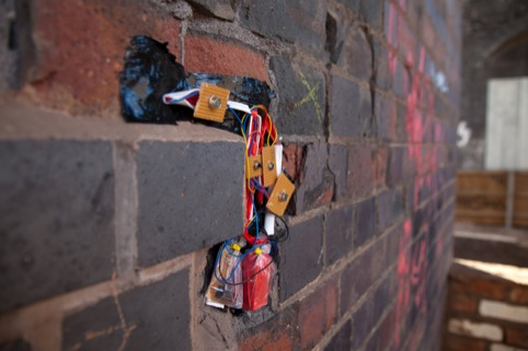 one of the devices embedded in the city for Mr Underwood's Sonic Graffiti project