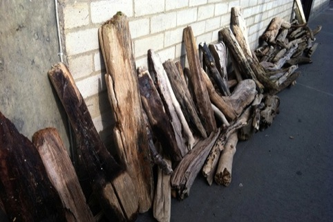 Drying driftwood