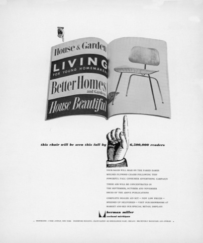 Ad for molded plywood campaign 1952