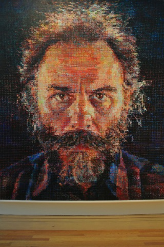 Lucas, by Chuck Close