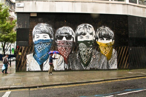 The Beatles on The Old Sorting Office by Mr Brainwash