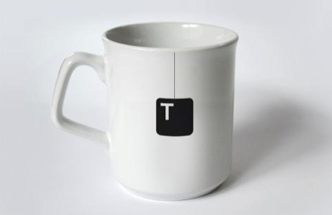 A mug of 'T'