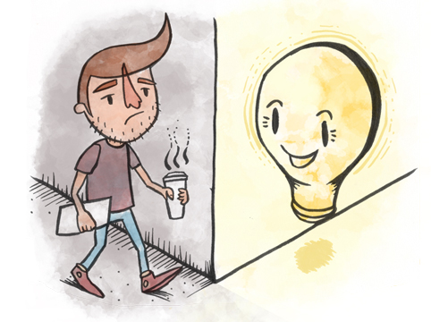 Great Ideas are Just Around the Corner, illustration by Will Aslett