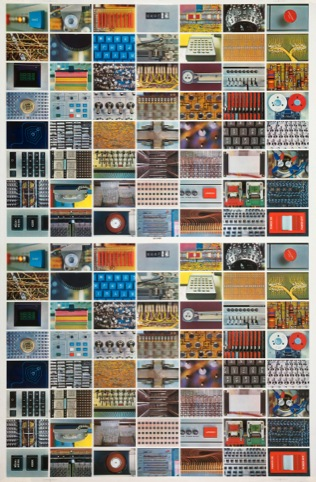 Double sheet of all Computer House of Cards faces 1970