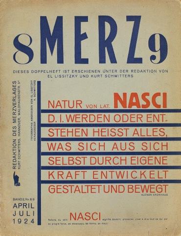 Merz, Kurt Schwitters et al., 1923 to 1932, Merzverlag, Germany / Merz, No 8–9, 1924