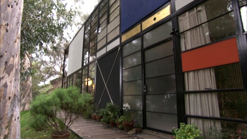 Exterior image of the Eames house
