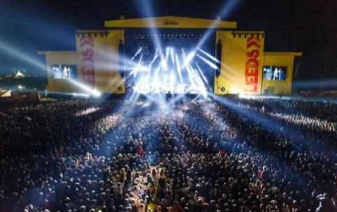 Leeds festival stage scrim