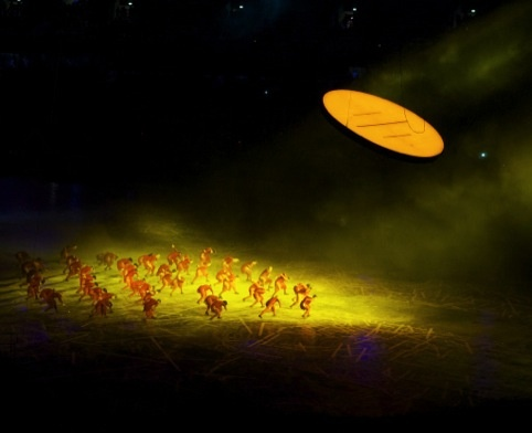 Sun dancers at the Olympic opening ceremony