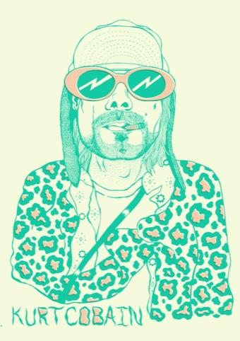 The Kurt Cobain sticker book - Design Week | 340 x 482 jpeg 62kB