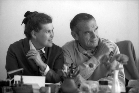 Ray and Charles Eames at the Aspen Design Conference 1974